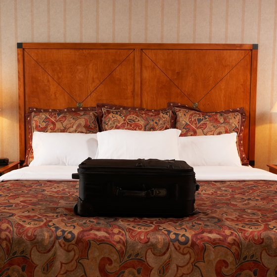 Keep your luggage off the beds in hotel rooms so you do not get bed bugs.