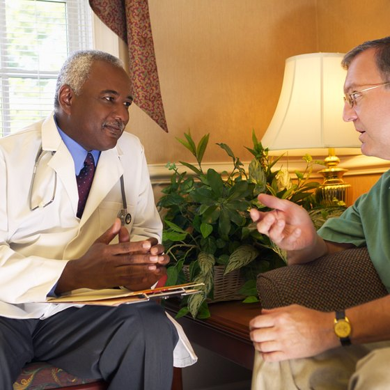 Doctor having a discussion with his patient.