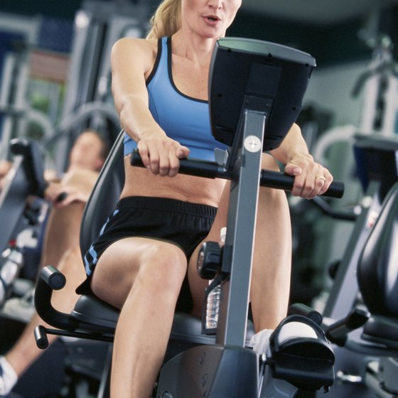 Riding a recumbent bike burns calories efficiently.