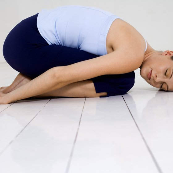 Child's pose is often part of a restorative practice.