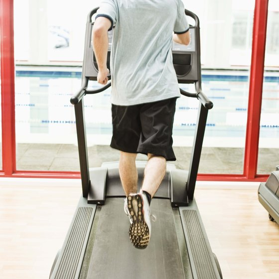 Running on a treadmill is one of many forms of cardiovascular exercise.