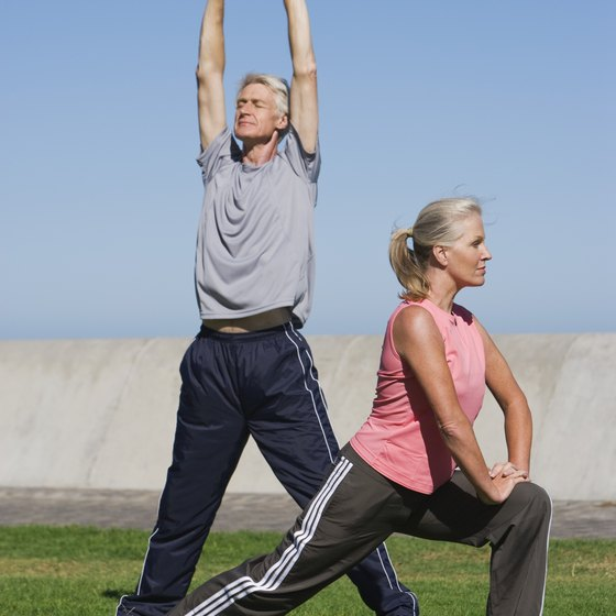 Start by stretching your muscle groups in the center of your body.