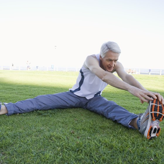 Older men can increase their flexibility by performing stretching exercises.