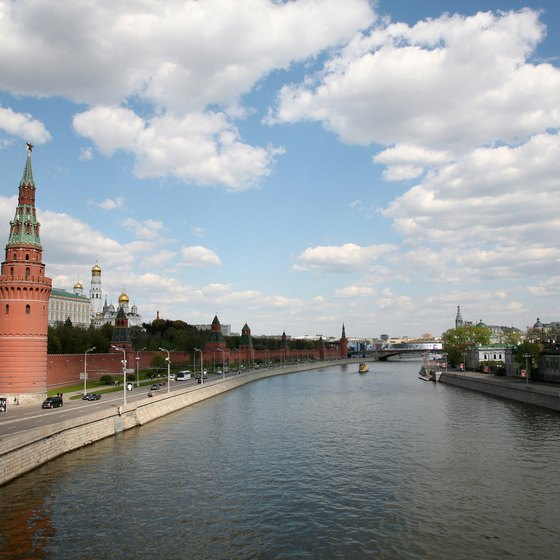 Moscow, Russia, is among the easternmost ports of call for European cruises.