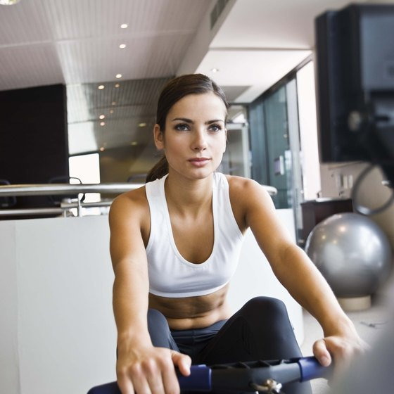 Working out on a rowing ergometer develops your cardiovascular system and burns calories.