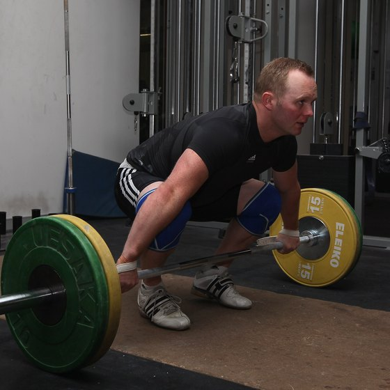 Keep a flat back when deadlifting.