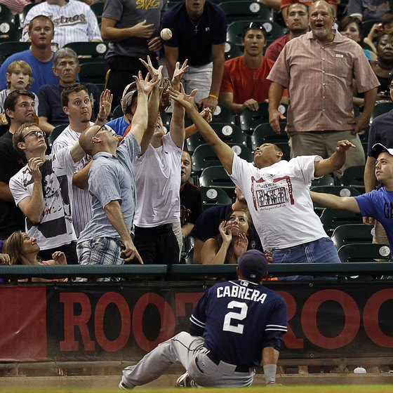 In baseball, a foul ball is fair game for the fans.