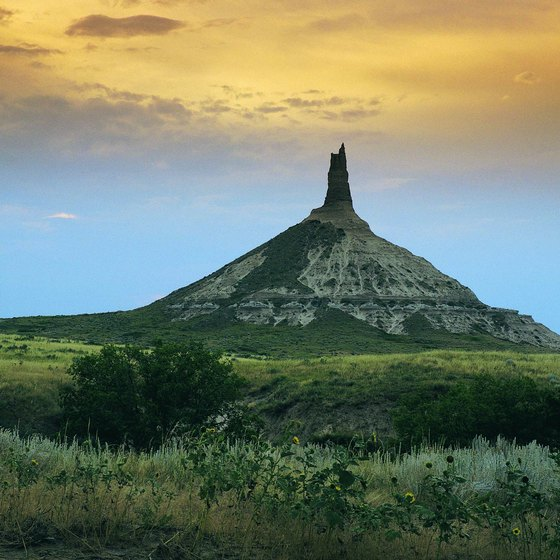 The famous Chimney Rock.