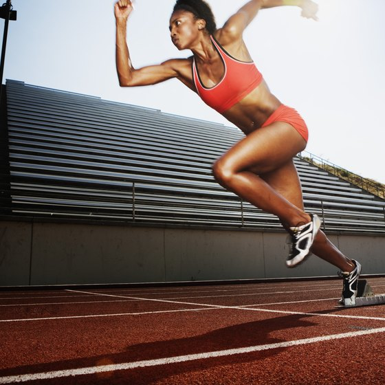 Sprinting requires powerful muscles.