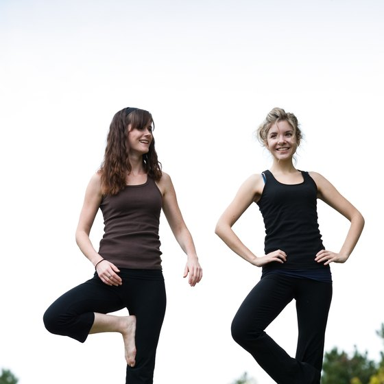 Working on tree pose and other one-legged poses can help improve your balance.