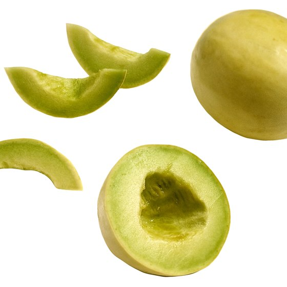 Honeydew melons are low in calories.