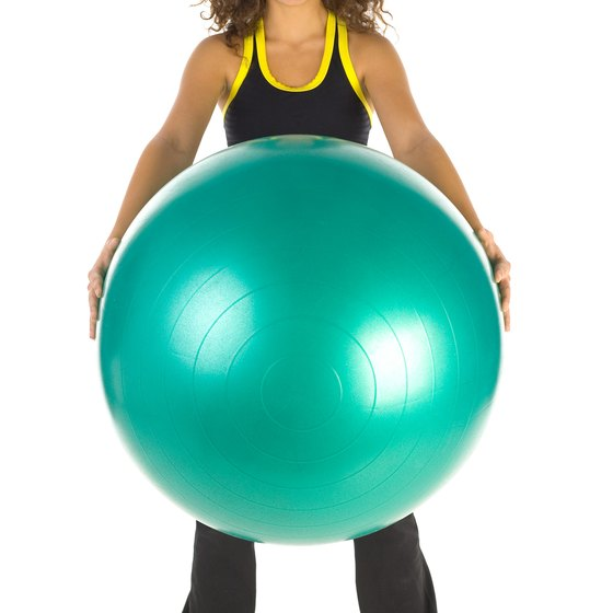 Use an exercise ball as a bench substitute.