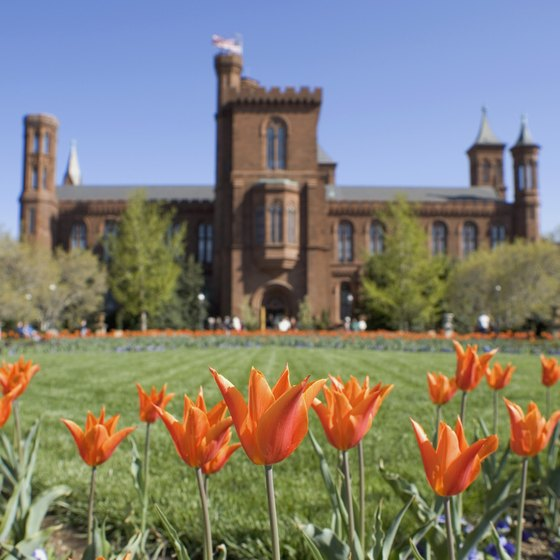 The Smithsonian Castle faces the National Mall.