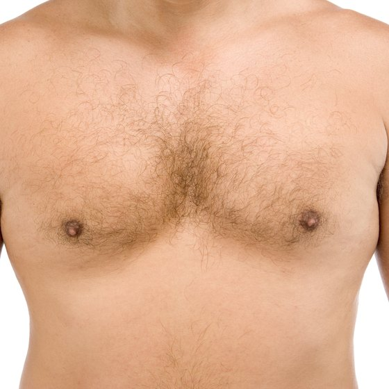 Not all men have perfect bodies, but fat in the chest can be lost with diet and exercise.