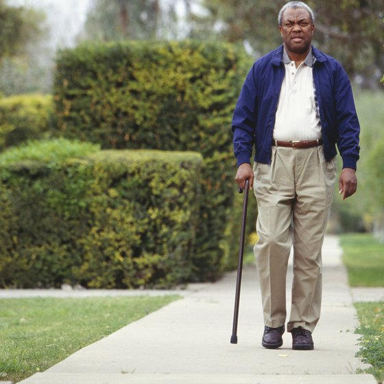 Walking with a cane gets easier with practice.
