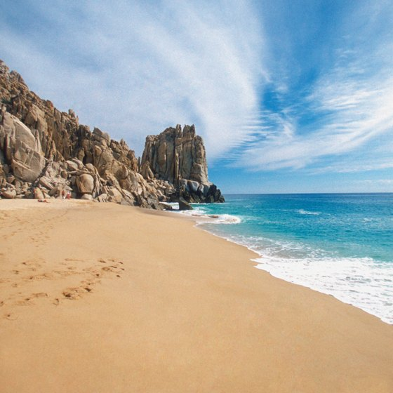 Endless sand and sun await at Playa Solmar in Cabo San Lucas, Mexico.