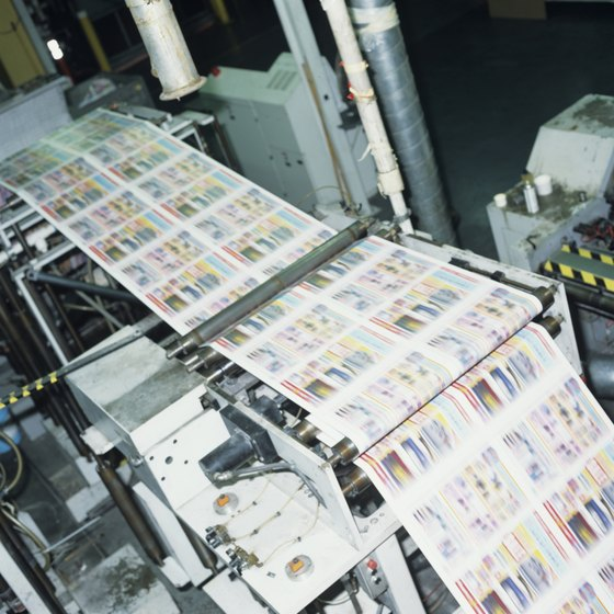 Like a printing press, a roll-fed printer uses continuous media.