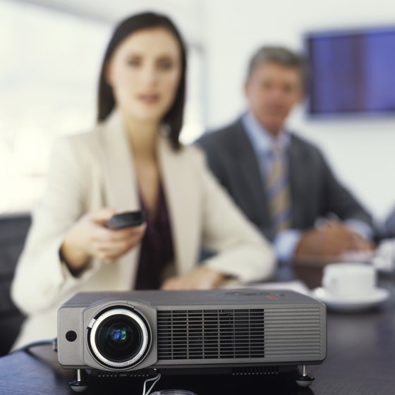 Projectors can provide sophisticated presentations for your next business meeting.