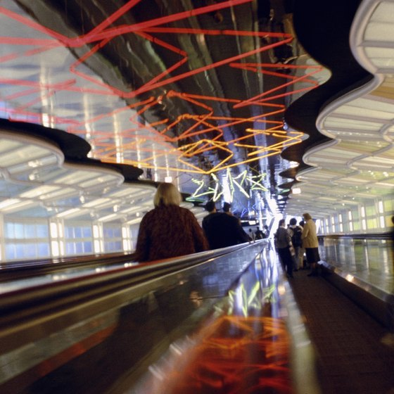 O'Hare features creative art installations all over the airport.