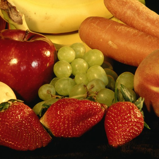 Fruits and vegetables are rich in fiber as well as several other nutrients.