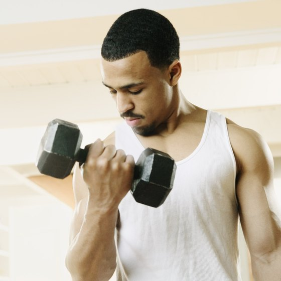 Bicep curls build strength and size.