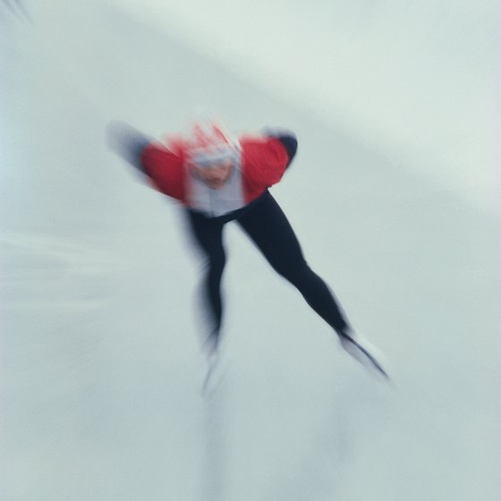 A slide board mimics the movements used in speed skating.