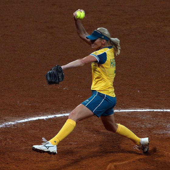 softball pitching drill
