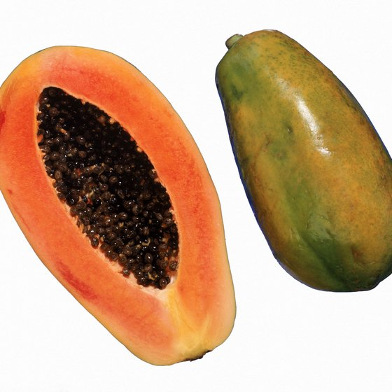 Eating papaya may be beneficial for your health.