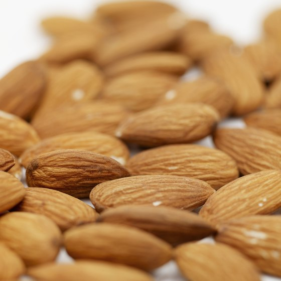 Seasoning your almonds with sea salt doesn't boost their nutritional value, but the nuts still contain essential nutrients.