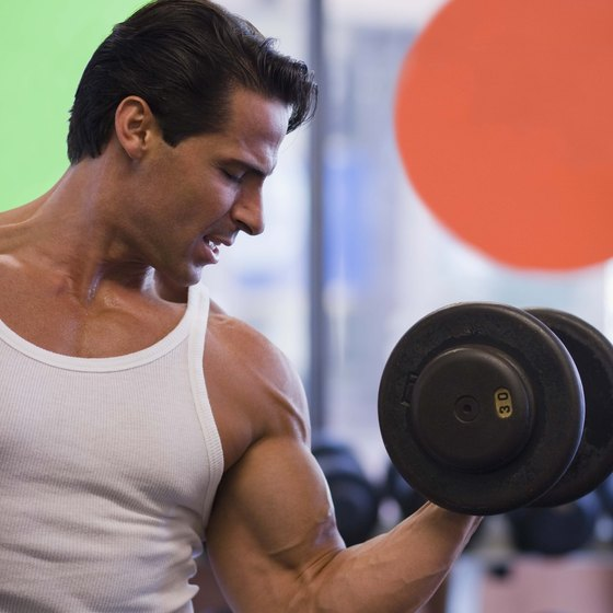 You can effectively work your biceps muscles without dumbbells.
