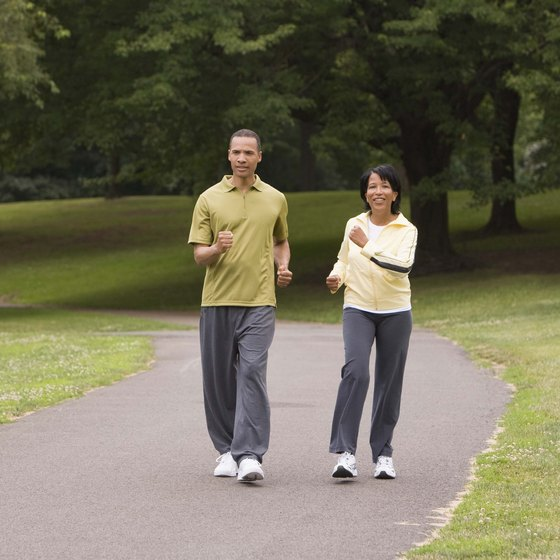 Walking with a partner can add excitement to the activity.