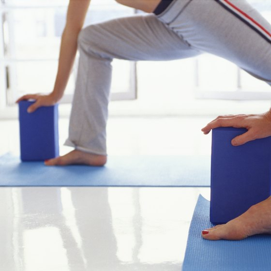 Yoga blocks are among the props used in therapeutic yoga.