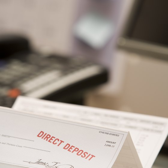 Incorporate direct deposit into a payroll system to save both time and money.