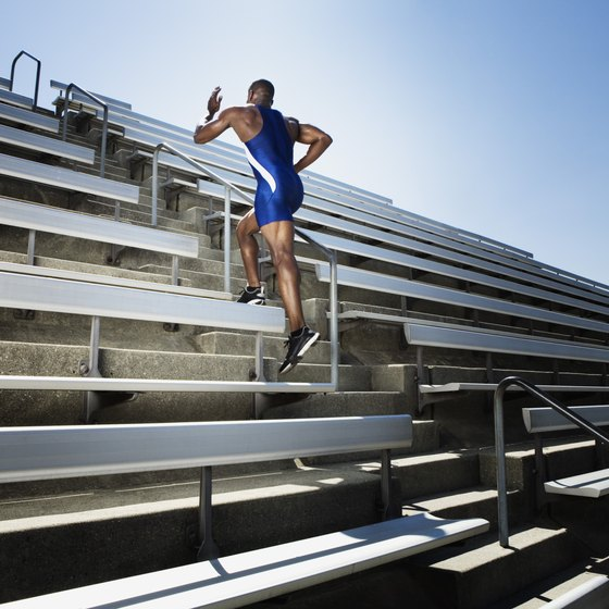Run stairs for a hardcore cardio workout.