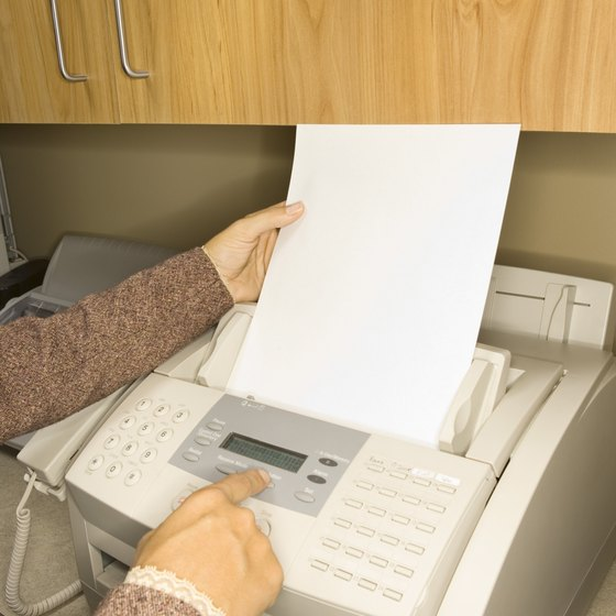 Sending and receiving faxes via computers saves paper and ink.