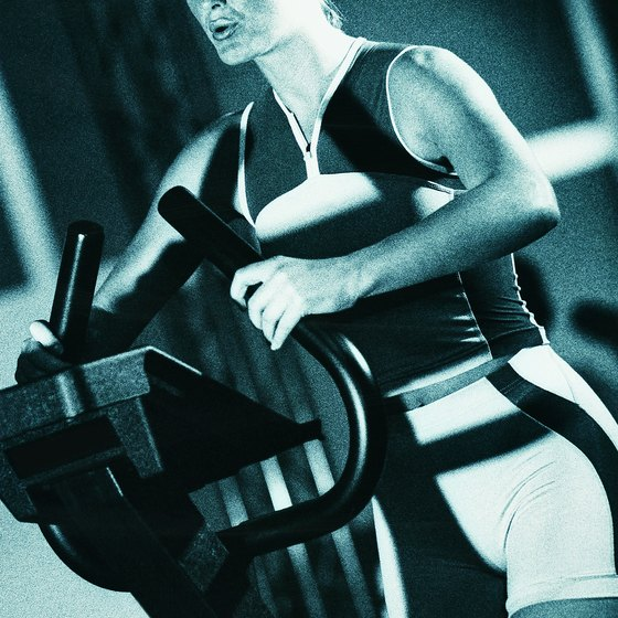 Elliptical machines provide aerobic exercise without stress on knees and lower backs.