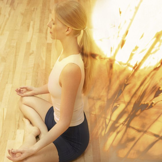 Hot yoga is performed in a humid room heated up to 105 degrees.