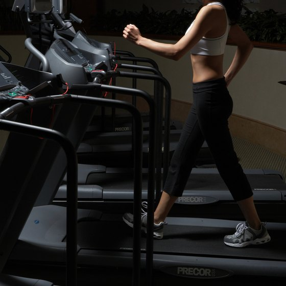 Jogging and walking on a treadmill are effective ways to burn calories.