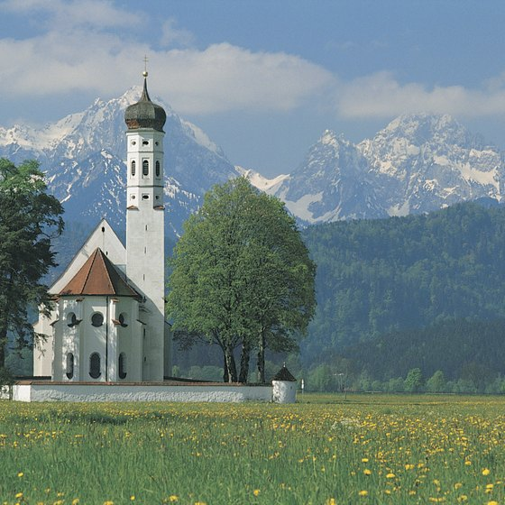 Picture perfect: Germany is home to beautiful churches and rolling hills.