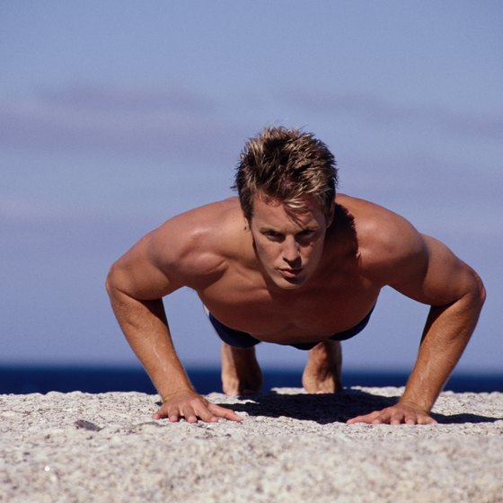 Pushups use body weight resistance.
