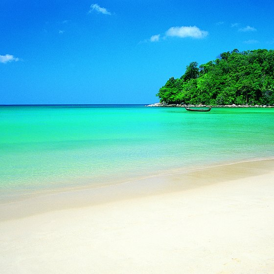 Thai beaches are famous for their white sand and clear blue waters.