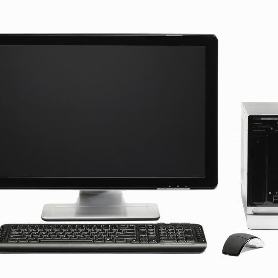 Businesses sometimes use notes payable to buy equipment, such as a computer.