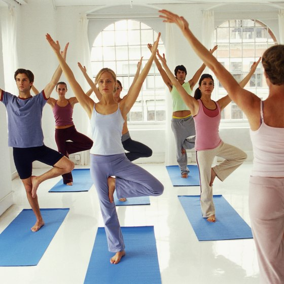 Many gyms offer group exercise classes.