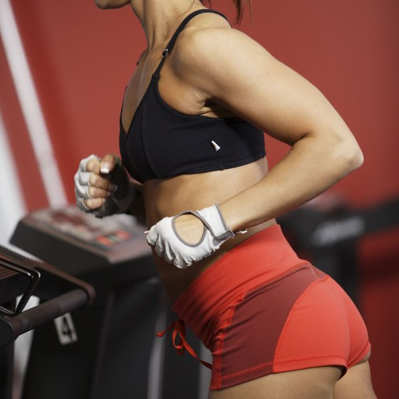 The treadmill provides butt-toning cardio.