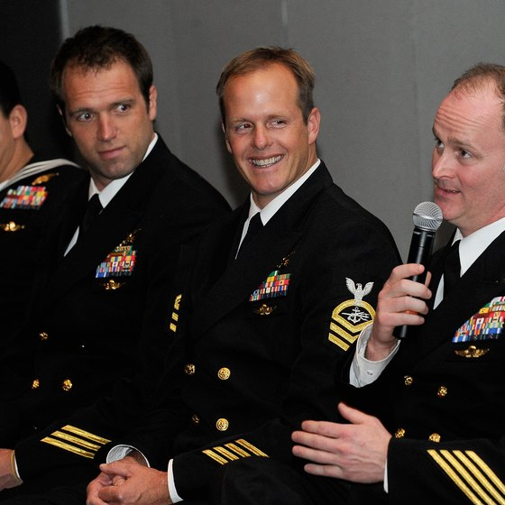 "Active Navy SEALs featured at the premiere of the 2012 film, ""Act of Valor."""