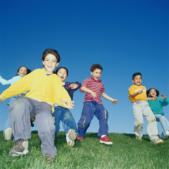 Fitness games teach kids to follow rules and sportsmanship and turn-taking skills.