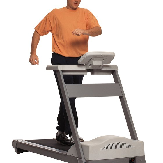 A brisk walk on the treadmill brings you to the ideal heart-rate zone for moderate aerobic exercise.