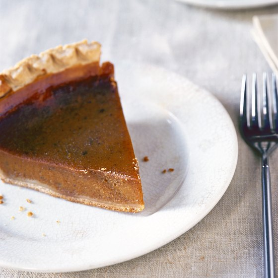 A single slice of pumpkin pie contains your entire daily vitamin A requirement.