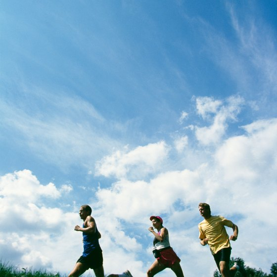Aerobic exercising, such as jogging, increases overall well-being.