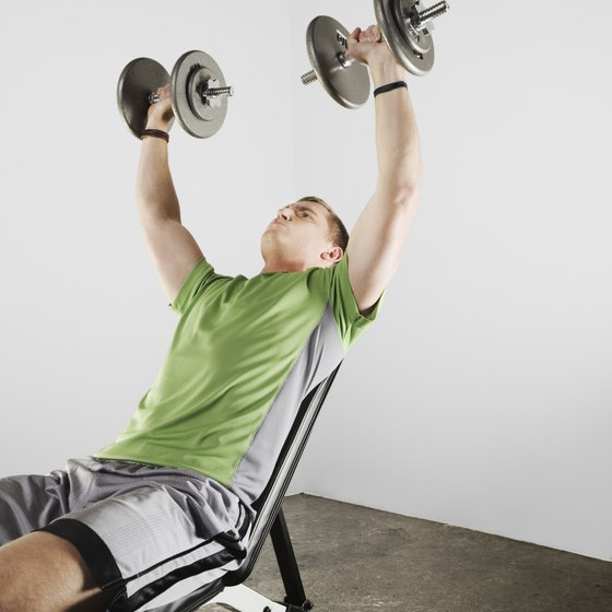Incline chest press targets the upper chest.